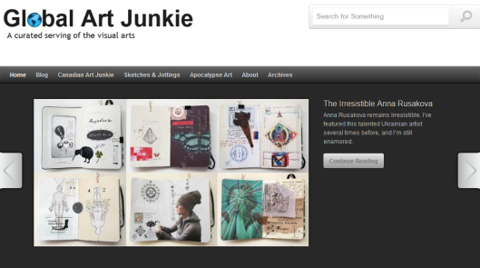 P-S-S-S-T - Over here at Global Art Junkie everybody!